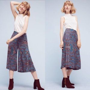 Anthropologie The Essential Culottes in Snake Print